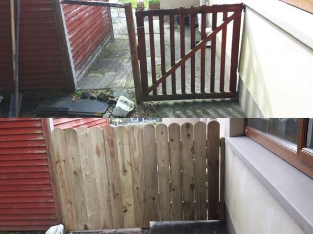 Wooden Side Garden Gate Fence