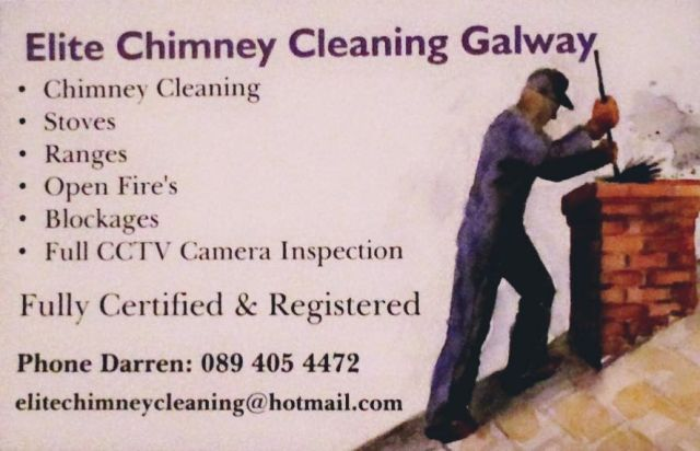 Elite Chimney Cleaning Galway Poster