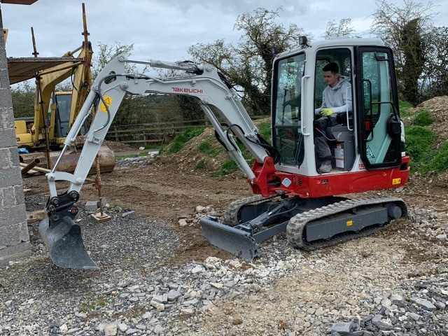 Takeuchi Mini Digger Hire Kildare